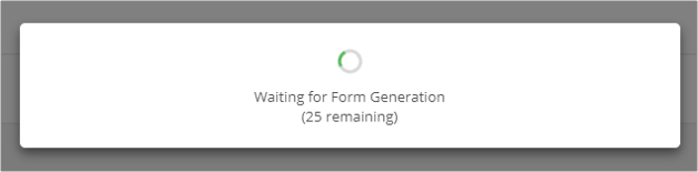 Form Generation Progress
